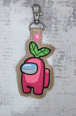 Leaf Among Us Snaptab / Keyfob Embroidery Design