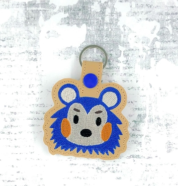 Mable Animal Crossing Snaptab / Keyfob Embroidery Design