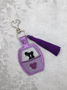 Greek Princess Skyliner Snaptab / Keyfob Embroidery Design