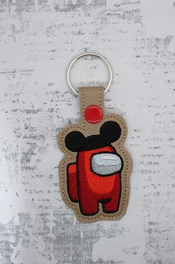Mr Mouse Crewmate Snaptab / Keyfob Embroidery Design