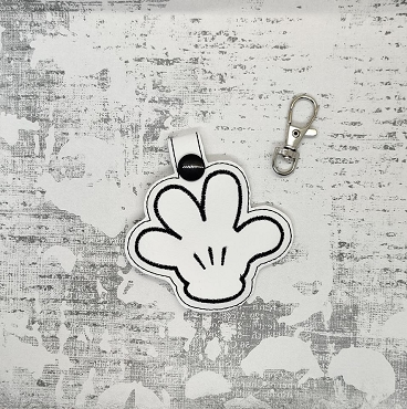 Mickey's Hand Snaptab / Keyfob Embroidery Design