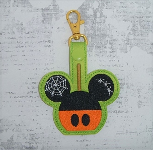 Mouse Halloween Apple Snaptab / Keyfob Embroidery Design