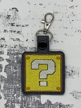 Mystery Box Snaptab / Keyfob Embroidery Design