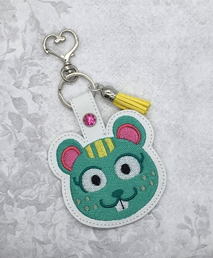 Nibbles Animal Crossing Snaptab / Keyfob Embroidery Design