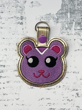 Peanut from Animal Crossing Snaptab / Keyfob Embroidery Design
