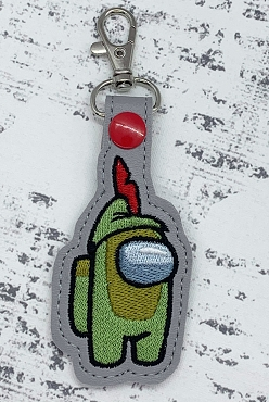 Flying Boy Crewmate Snaptab / Keyfob Embroidery Design