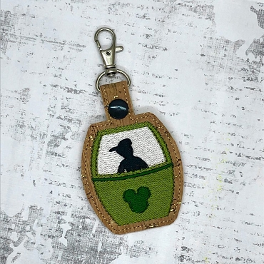 Peter Pan Skyliner Snaptab / Keyfob Embroidery Design