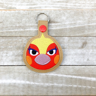 Phoebe Animal Crossing Snaptab / Keyfob Embroidery Design