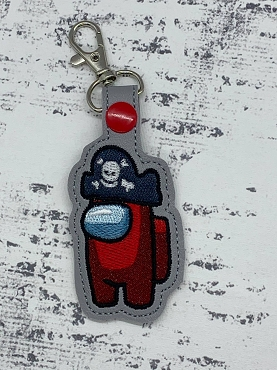 Pirate Crewmate Snaptab / Keyfob Embroidery Design