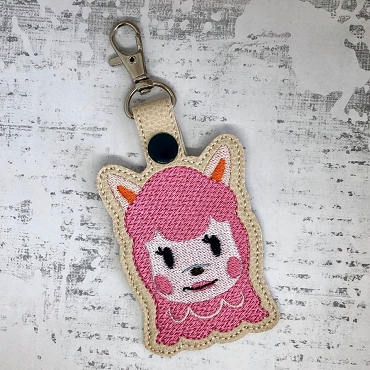 Reece from Animal Crossing Snaptab / Keyfob Embroidery Design