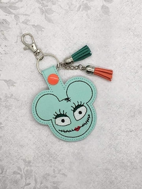 Ghost Bride Ears Snaptab / Keyfob Embroidery Design