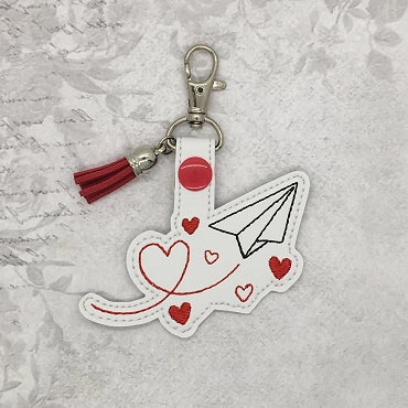 Sending You My Love Snaptab / Keyfob Embroidery Design