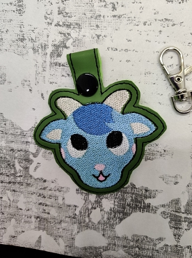 Sherb from Animal Crossing Snaptab / Keyfob Embroidery Design