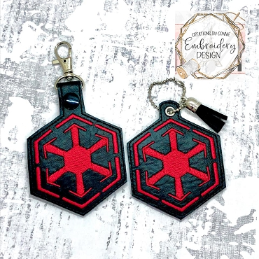 Sith Empire Snaptab / Keyfob Embroidery Design