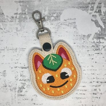 Tangy Snaptab / Keyfob Embroidery Design (Animal Crossing)
