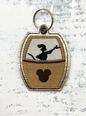 Timon Skyliner Snaptab / Keyfob Embroidery Design