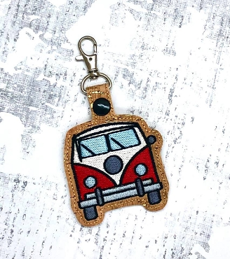 VW Van Snaptab / Keyfob Embroidery Design