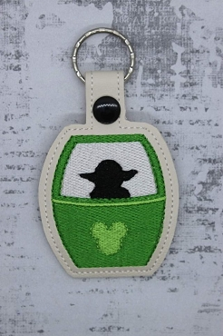 Green One Skyliner Snaptab / Keyfob Embroidery Design