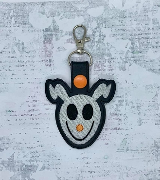 Ghost Dog Snaptab / Keyfob Embroidery Design