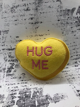 Hug Me Heart Stuffie Embroidery Design (5x7)