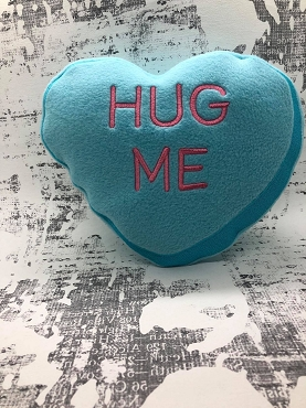 Hug Me Heart Stuffie Embroidery Design (8x12)
