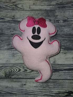Mrs Mouse Ghost Stuffie Embroidery Design