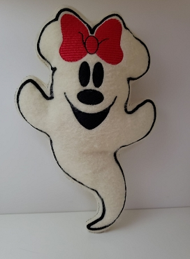 Mrs Mouse Ghost Stuffie Embroidery Design (6x10)