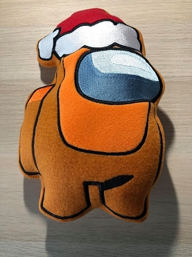 Santa Crewmate Stuffie Embroidery Design (6x10)