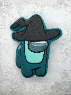 Witch Hat Crewmate Stuffie Embroidery Design (5x7)