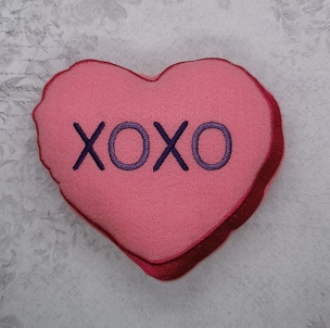 XOXO Stuffie Heart Embroidery Design (5x7)