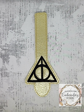 Always Wizard Wallet Tab Embroidery Design