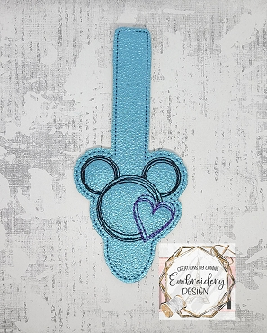 Mr Mouse Scribble Tab Embroidery Deisign