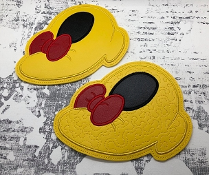 Mrs Mouse Shoe Trivet for Vinyl Embroidery Design