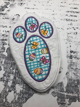 Bunny Paw Trivet for Material Embroidery Design