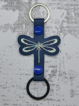 Satin Dragonfly Water Bottle Holder Embroidery Design