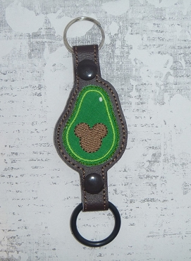 Mouse Avocado Water Bottle Holder Embroidery Design