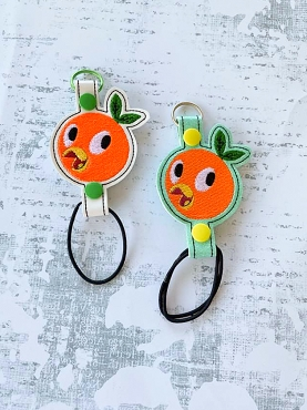 Orange Bird Water Bottle Holder Embroidery Design