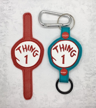 Thing 1 Water Bottle Holder Embroidery Design