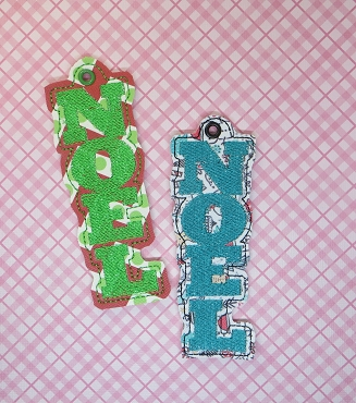 NOEL Wine Tag Embroidery Design - THIS IS FOR 4X4