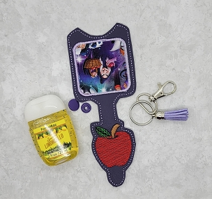 Apple Satin Hand Sanitizer Embroidery Design