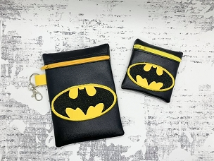 Super Hero Zipper Bag Set Embroidery Design (4x4 & 5x7)