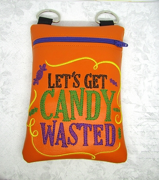 Candy Wasted Zipper Bag Embroidery Design (5x7, unlined)