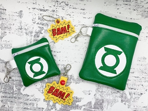 Green Lantern Zipper Bag Embroidery Design (5x7)
