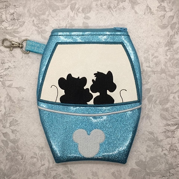 Gus Gus & Jaq Skyliner Zipper Bag Embroidery Design (5x7)