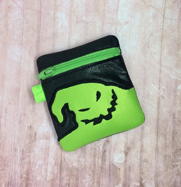 Ghost Zipper Bag Embroidery Design (4x4, unlined)