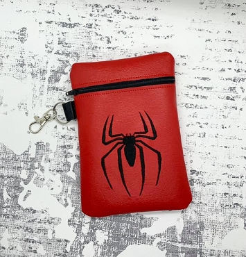 Spiderman Logo Zipper Bag Embroidery Design (5x7)
