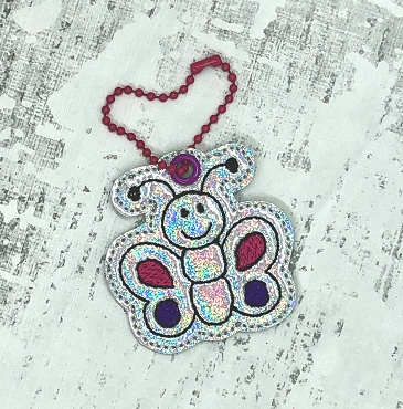 Butterfly Zipper Pull Embroidery Design