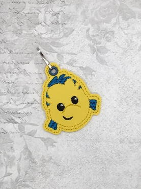 Guppy Zipper Pull Embroidery Design