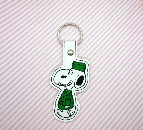 Armed Forces Snoopy Snaptab / Keyfob Embroidery Design