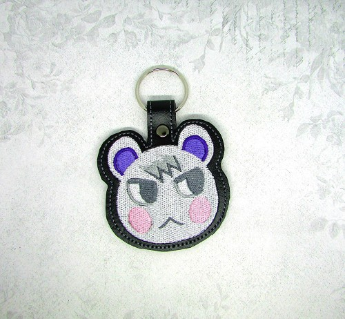 Marshall from Animal Crossing Snaptab / Keyfob Embroidery Design